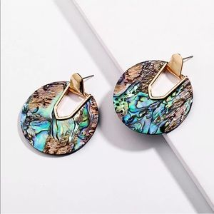 Abalone statement Earrings